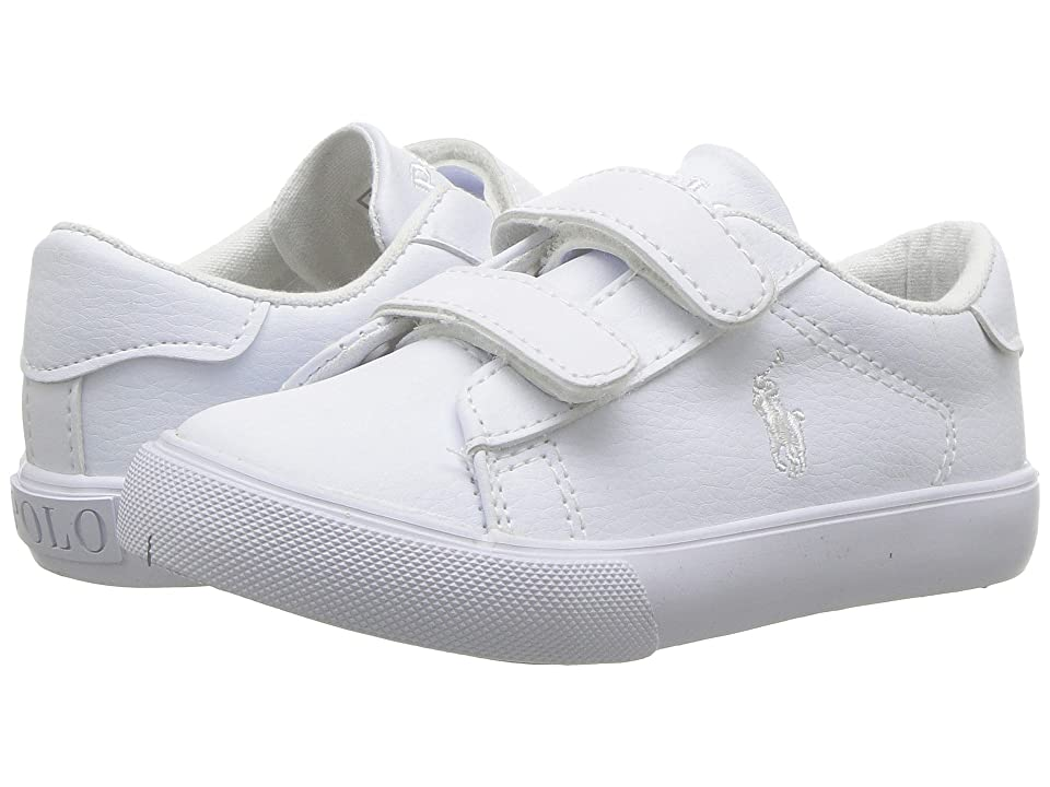 Polo Ralph Lauren Kids Easten EZ (Toddler) (Triple White Tumbled) Kid