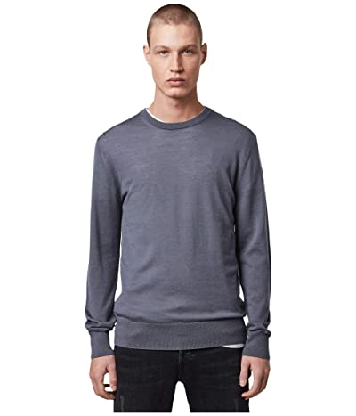AllSaints Mode Merino Crew Sweater (Ridge Blue) Men