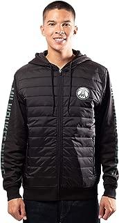 Ultra Game NBA Men's Full-Zip Soft Fleece Puffer Hoodie Jacket