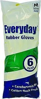 Guantes de goma Everyday, tamaño mediano, paquete de 6