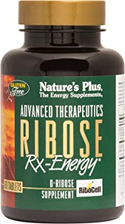 NaturesPlus Advanced Therapeutics Ribose Rx-Energy Tablets- 1100 mg, 60 Vegetarian Tablets - High Potency Energy Booster E...