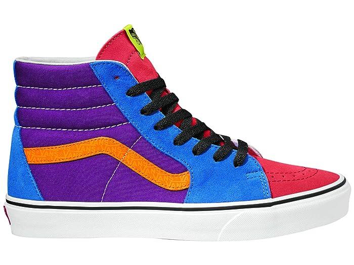 80s Men's Clothing | Shirts, Jeans, Jackets for Guys Vans SK8-Hitm Mix  Match Grape JuiceBright Marigold Skate Shoes $64.95 AT vintagedancer.com