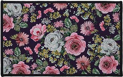 Douceur d'Intérieur Flower Life Decorative Rectangular Rug, Multi-Colour, 50 x 80 cm