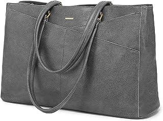 LOVEVOOK Handtasche Laptoptasche Damen 15,6 Zoll Handtasche Business Laptop Schultertasche Tote Bag Aktentasche Leicht Lap...