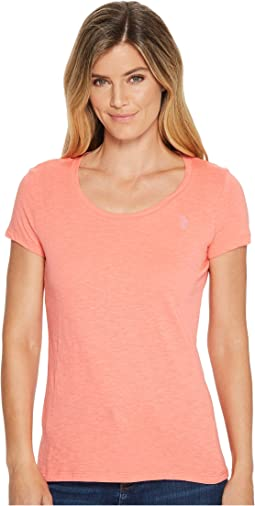Scoop Neck Solid T-Shirt