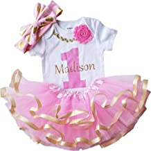 personalised first birthday dress