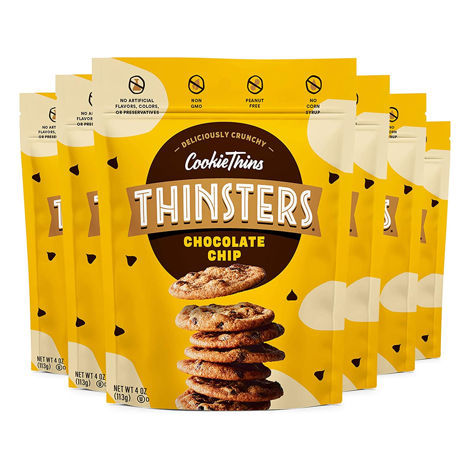 Thinsters Cookie Sale price Thins Cookies Chocolate Chip 4oz Product Of Pack 6