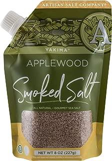 SaltWorks Yakima Applewood Smoked Sea Salt, Artisan Pour-Spout Pouch, 8 Ounce