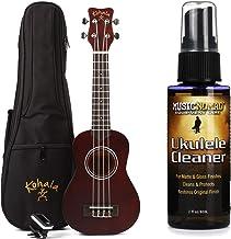 Kohala KPP-S Soprano Ukulele Player Pack + MusicNomad Ukulele Cleaner for Matte & Gloss Finishes Value Bundle