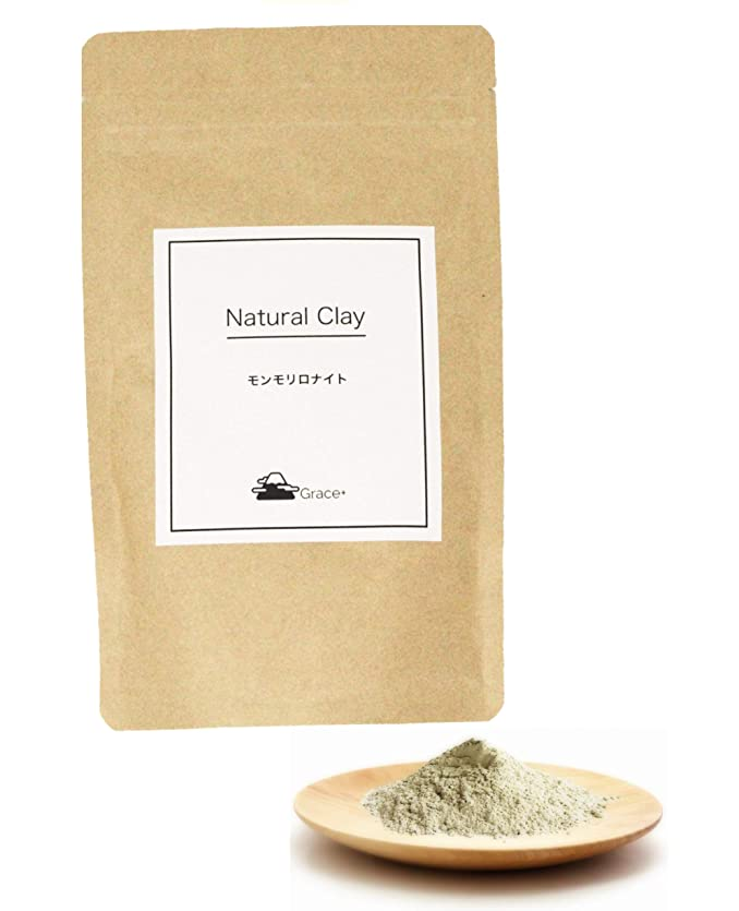 再現する危険薬用手作り化粧品の素材 Grace+ ナチュラルクレイ 100g(Natural Clay) モンモリロナイト (ベントナイト)
