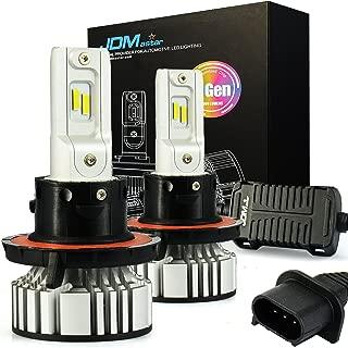 JDM ASTAR No Dark Spot Design 8000 Lumens Extremely Bright H13 9008 LED Headlight Bulbs Conversion Kit, Xenon White-Adjustable Light Angel Not Blinding On Coming Driver
