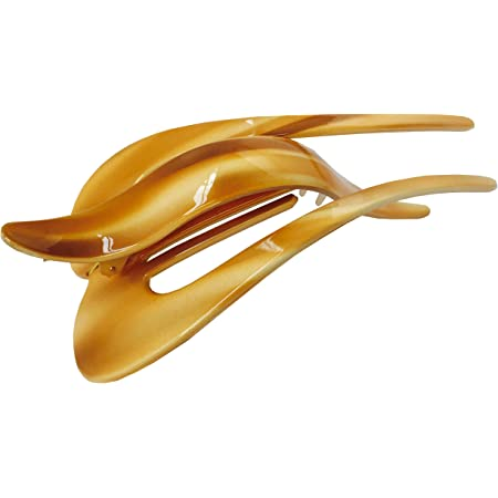 Parcelona Medium Basic Celluloid Secure Grip Side Hair Claw Clip Clamp