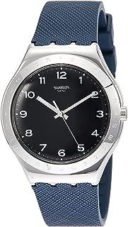 Swatch Inkwell YWS102 Silver Rubber Swiss Quartz Fashion Watch