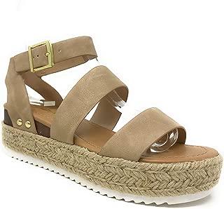SODA JD Bryce Espadrille Open Toe Flatform Sandals