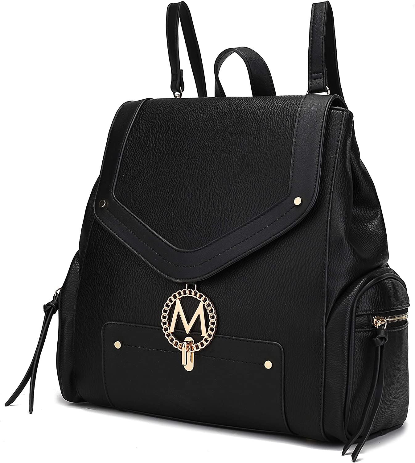 safety MKF Backpack Purse for Women Girls PU Leather Bag Top Handle – Quantity limited