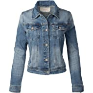 Design by Olivia Women's Classic... Design by Olivia Women's Classic Casual Vintage Denim Jean Jacket/Vest