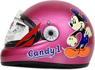 ACTIVE CANDY-1 Full Face Helmet for Kids from 2 to 5 Years (PINK,Size-Extra Small)(CARTOON CHARACTERs MAY VERY) (PINK)