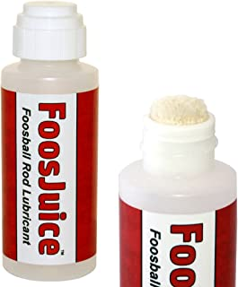 Spot On FoosJuice 100% Silicone Foosball Rod Lubricant with Dauber Top Applicator - The Clean and Easy to Use Lube