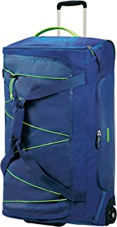 American Tourister 107658 Road Quest Duffle with Wheels, 79 cm Height, Blue/Lime, 80 Centimeters