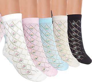 JHosiery señoras calcetines Pointelle gran ventilación con costuras cómodas