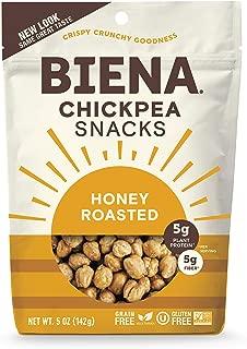 BIENA Chickpea Snacks, Honey Roasted, 5 Ounce, 4 Count
