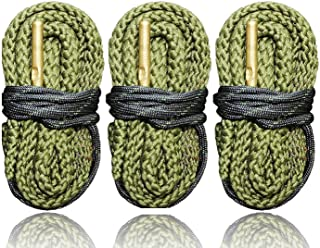 3 Pack of 9 MM Pistol Bore Cleaning Snakes, Completely Washable, Very Tough - Quickly Cleans Your Guns Bore - Fits Most 9mm .380 .38 and .357 Pistols - Ships from US Cobra Bore Snakes