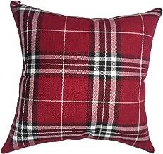 That's Perfect! Scottish Tartan Plaid Decorative Throw Pillow Sham - Fits 18 x 18 Insert (Red)