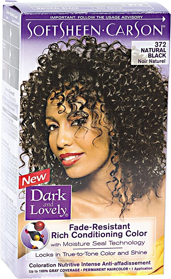 Dark & Lovely Permanent Haircolor, 372-Natural Black