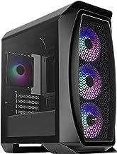 Aerocool AEROONEMINIFROST, caja PC Micro ATX, 4 ventiladores,2 paneles, negro