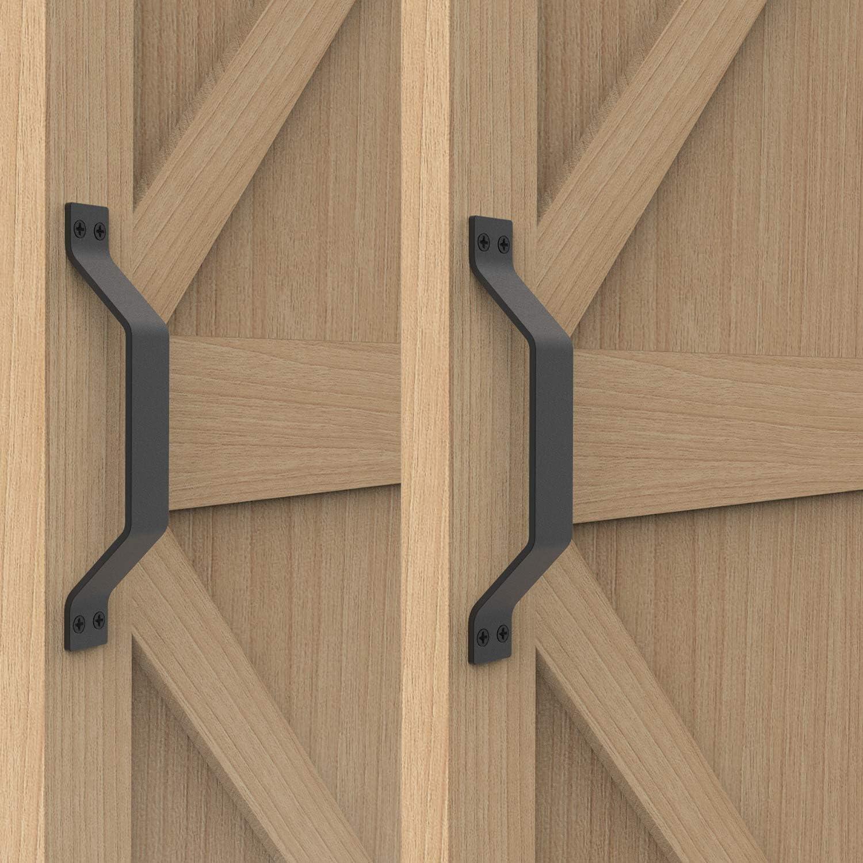 2-Pack Garage Door Handle Hardware gate shed steel black