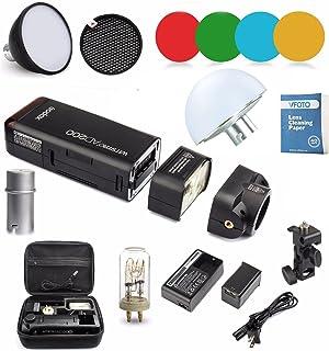 Godox AD200 Nuevo 2.4G TTL Bolsillo Flash 200Ws TTL HSS 1 / 8000s Flash con 2900mAh Litio Batería + AD-S11+AD-S2+AD-17+ AD...