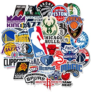 Sweetures NBA Team Stickers Creative DIY Stickers Funny Decorative Cartoon for Cartoon PC Luggage Computer Notebook Phone Home Wall Garden Window Snowboard (31pcs)