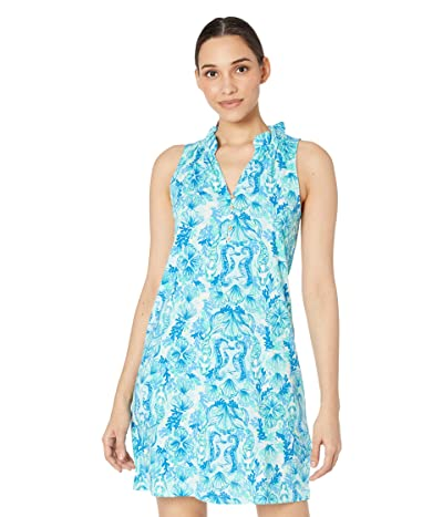 Lilly Pulitzer Azlynn Dress (Seaglass Aqua Seeing Double) Women