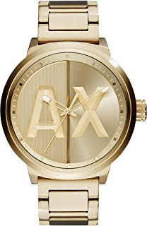 A|X Men's Gold Tone Stainless Steel Watch AX1363