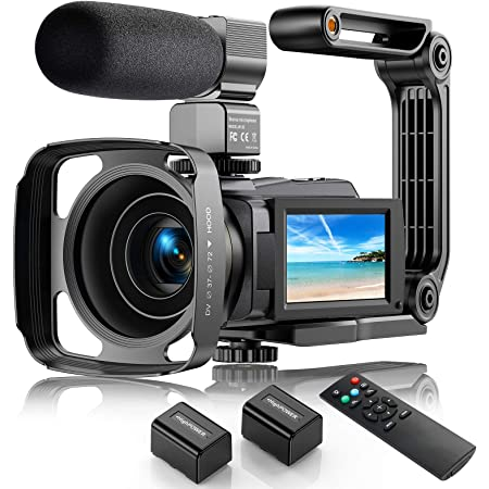 4K Video Camera Camcorder 48MP Ultra HD Video Camera for YouTube with WIFI Vlogging Camera IR Night Vision Video Recorder 16X Digital Camera with Microphone Remote Touch Screen (2021 Upgraded Version)