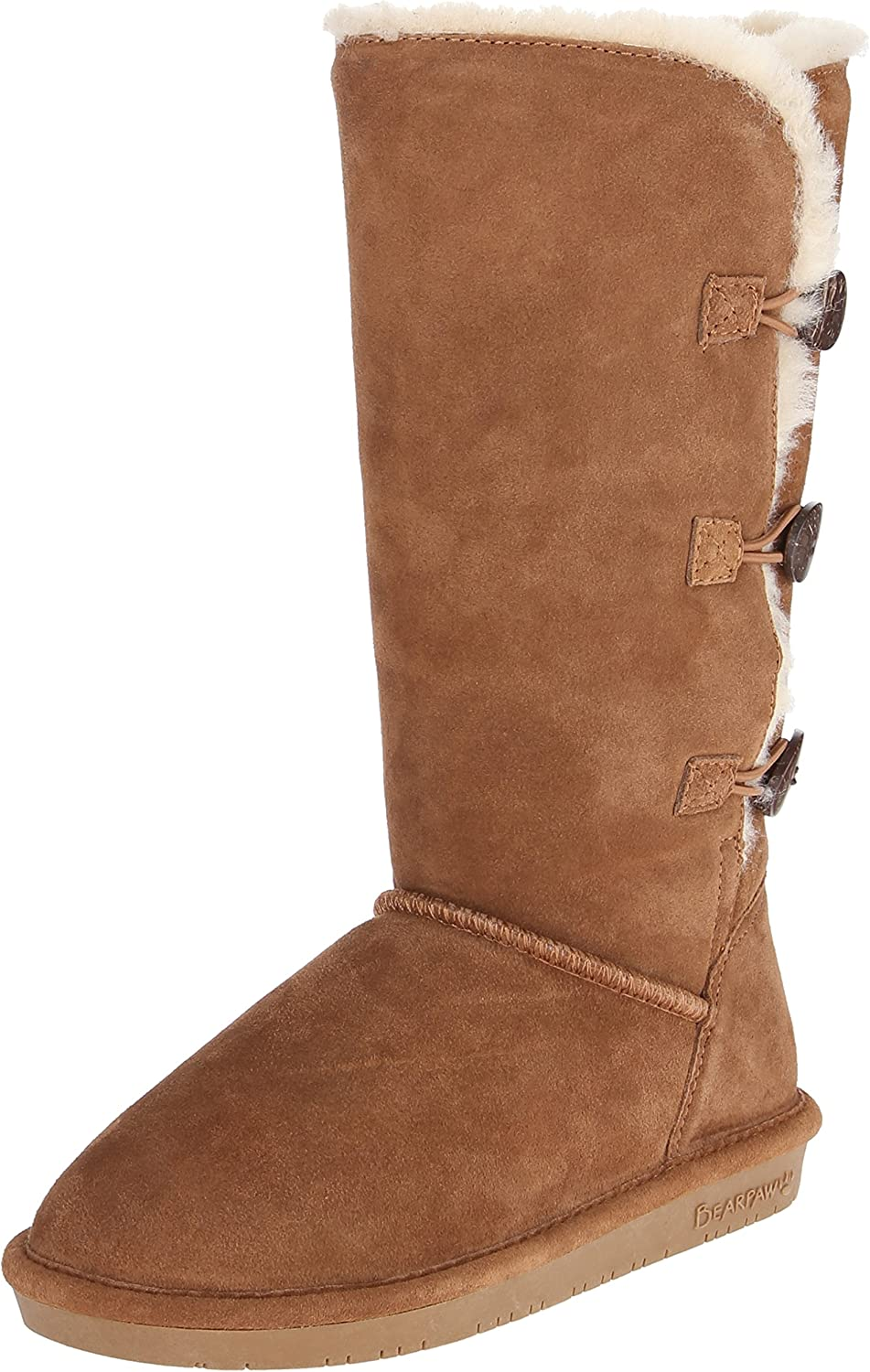 Bearpaw Women's Lauren Winter Boot, Hickory, 6 M US