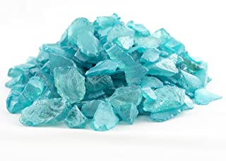 Sea Glass Chips | 1 Pound of Ocean Blue Pearlized Sea Glass Chips | Bulk Pearlized Sea Glass Pieces for Craft and Décor | Plus Free Nautical eBook by Joseph Rains