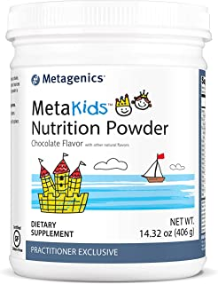 Metagenics MetaKids™ Nutrition Powder 14.32 oz (406 g), Kids Nutritional Shake, Chocolate, 14 Servings - Non-GMO & Gluten Free