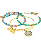 Alex and Ani - Marina Sand Dollar Bracelet Set of 3
