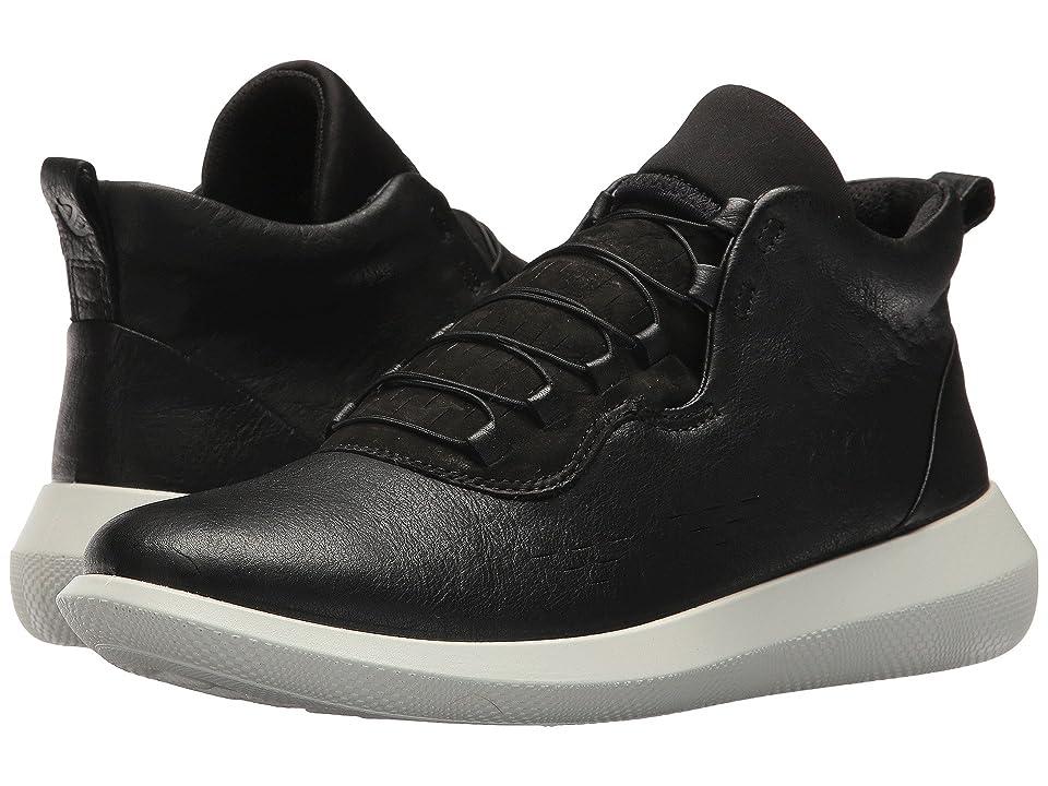 ECCO Scinapse High Top (Black/Black Yak Leather/Yak Nubuck) Women