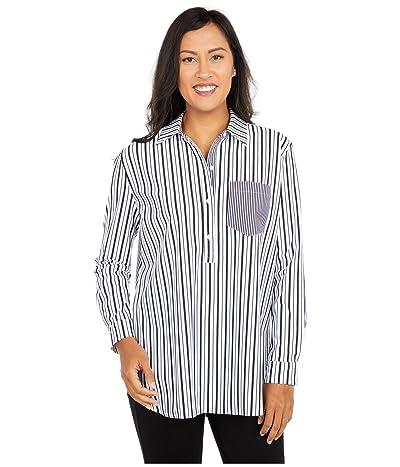Lysse Fashion Microfiber Delancey Top (Optic Stripe White Mix) Women