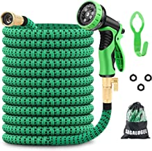 GAGALUGEC 50ft Expandable Garden Hose with 9 Function Nozzle, Leakproof Lightweight Retractable Water Hose with Solid Bras...