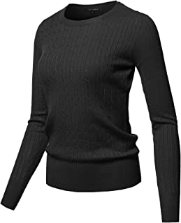 Women's Top Contemporary Casual Viscose Nylon Textured Long Sleeves Sweater