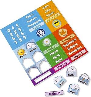 Części magnetyczne do kalendarza Aeioubaby | magnetyczny zegar kalendarzowy dla dzieci, gra edukacyjna | dzień, data, mies...