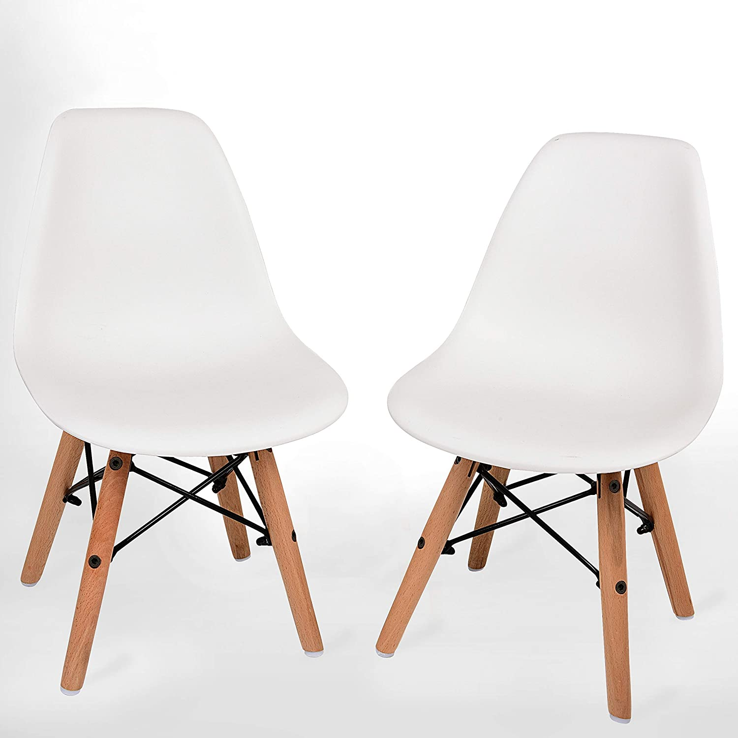 Amazon.com: UrbanMod Kids Modern Style Chairs, [Set of 2] ABS Easy