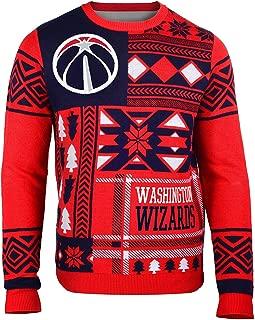 Washington Wizards Patches Ugly Crew Neck Sweater Extra Large