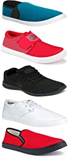 WORLD WEAR FOOTWEAR Sports Running Shoes/Casual/Sneakers/Loafers Shoes for MenMulticolors (Combo-(5)-1219-1221-1140-749-1012)