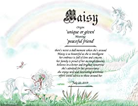 Unicorn - Personalized ANY First Name Meaning Keepsake Print 8.5