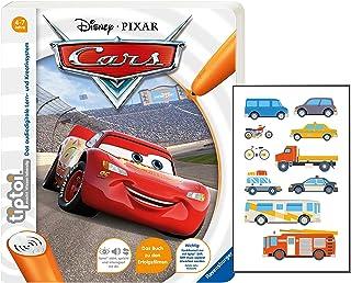 Collectix Ravensburger Tiptoi Livre de 4 à 7 ans | Disney Cars (livre d'images en carton) + autocollant véhicule pour enfa...