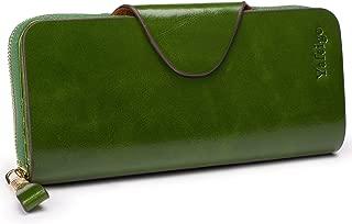 Large Luxury Women's RFID Blocking Tri-fold Leather Wallet Zipper Ladies Clutch Purse